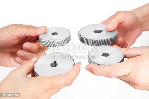 173706624istockphoto Business Concept with Gears 497387254