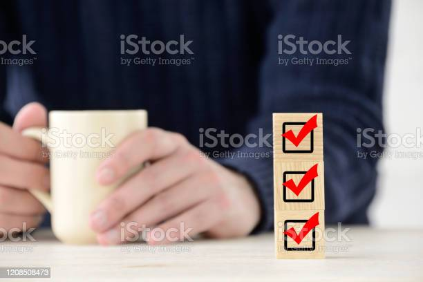Business Concepts Increasing Checking Marks Stock Photo - Download Image Now