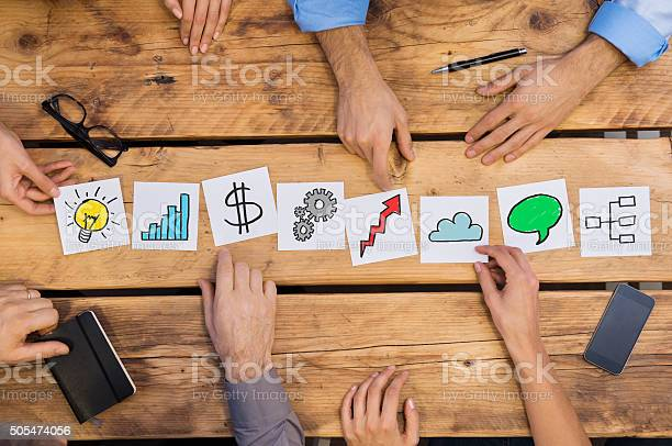 Business Concepts On Desk Stock Photo - Download Image Now
