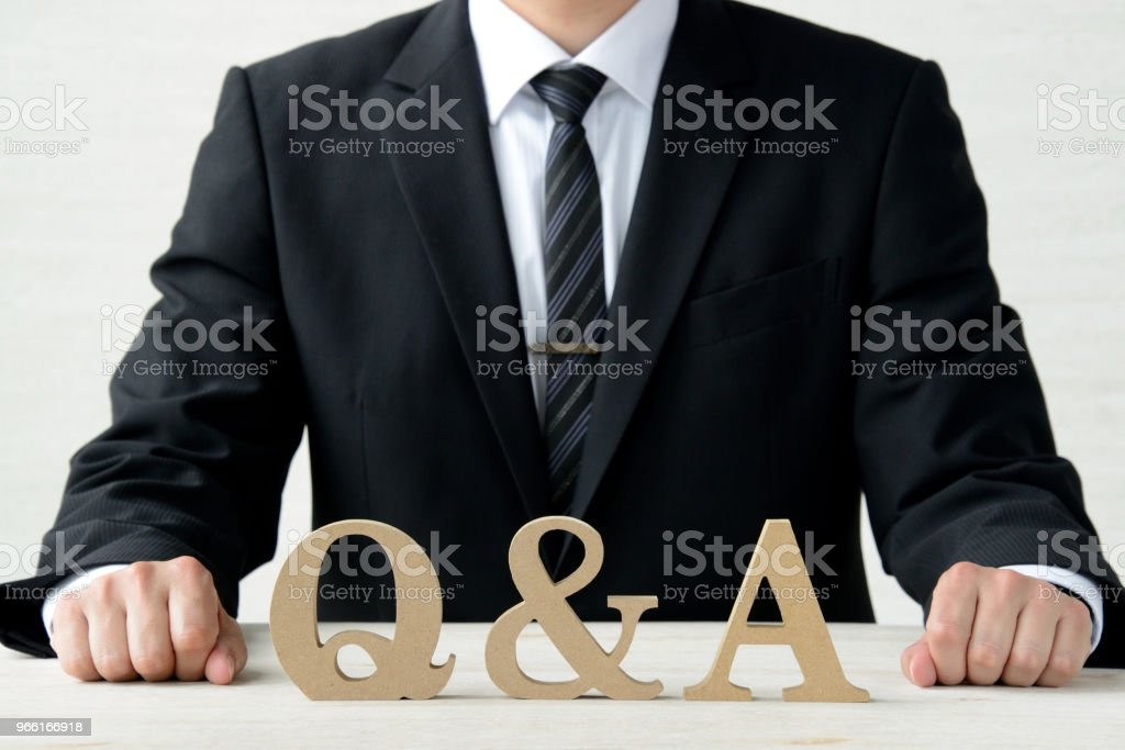 Business concepts, question and answer - Royalty-free Adult Stock Photo