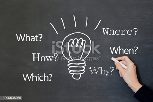 Business concepts, question and good idea