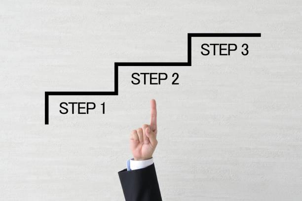 ビジネス コンセプト、ステップ アップ - 戦略 ストックフォトと画像