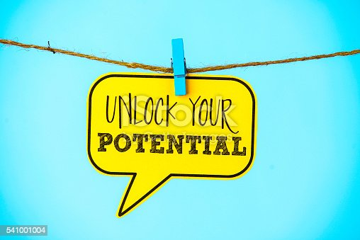 Business concepts. Unlock your potential