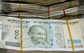 istock Business concepts with Indian currency.Focus on eye of a man on banknotes 1191174138
