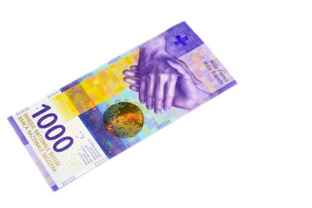 zakelijke concepten met zwitserland valuta, geld geïsoleerd op witte achtergrond met kopieer ruimte - franken stockfoto's en -beelden