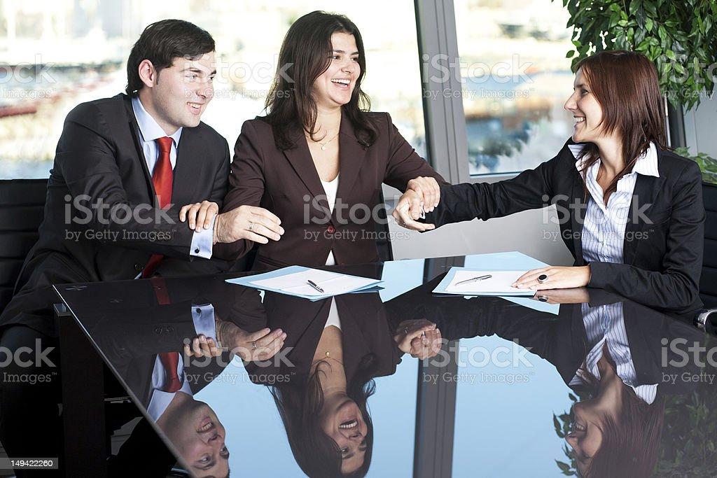 Business conciliation stock photo