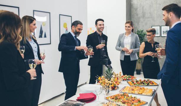 business conference and event - muita comida imagens e fotografias de stock