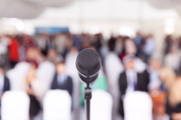 Business conference. Corporate presentation. stock photo