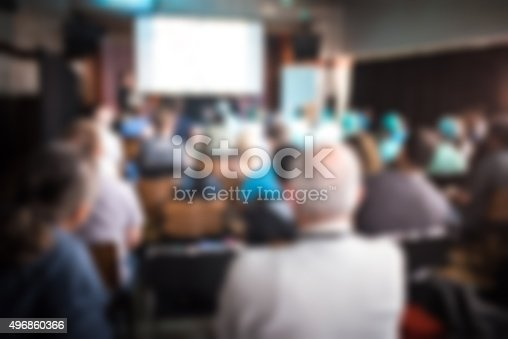 istock Business conference in progress 496860366