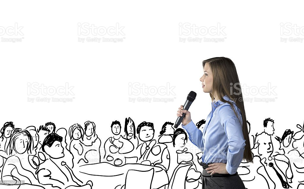 Business conference royalty-free stock photo