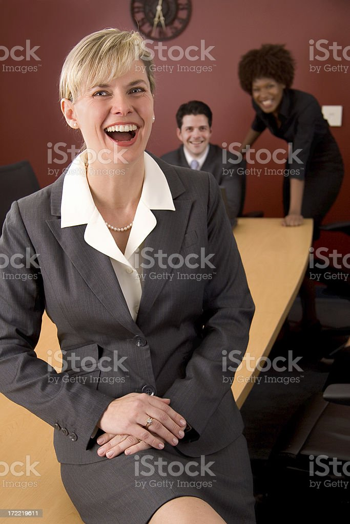 Business Conference Room Laugh royalty-free stock photo