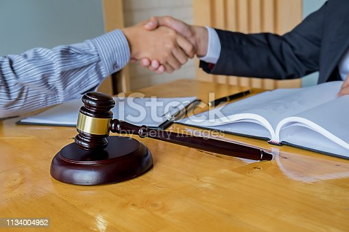 1050485096 istock photo Business confident handshake and business people after discussing , success  concept 1134004952