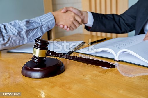 836113188 istock photo Business confident handshake and business people after discussing , success  concept 1135581628