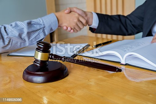 1050485096 istock photo Business confident handshake and business people after discussing , success  concept 1149505395