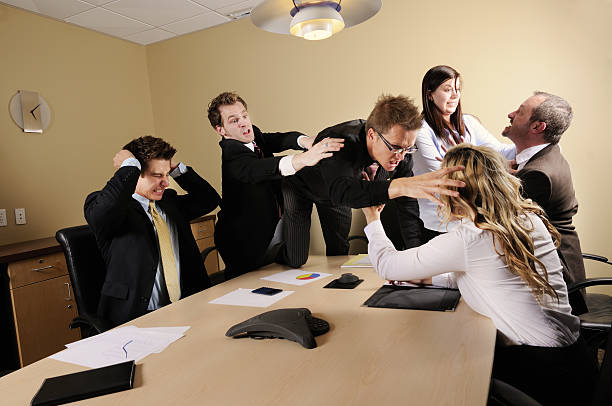 Business Conflict stock photo