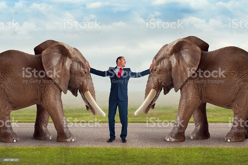 business conflict resolution concept stock photo