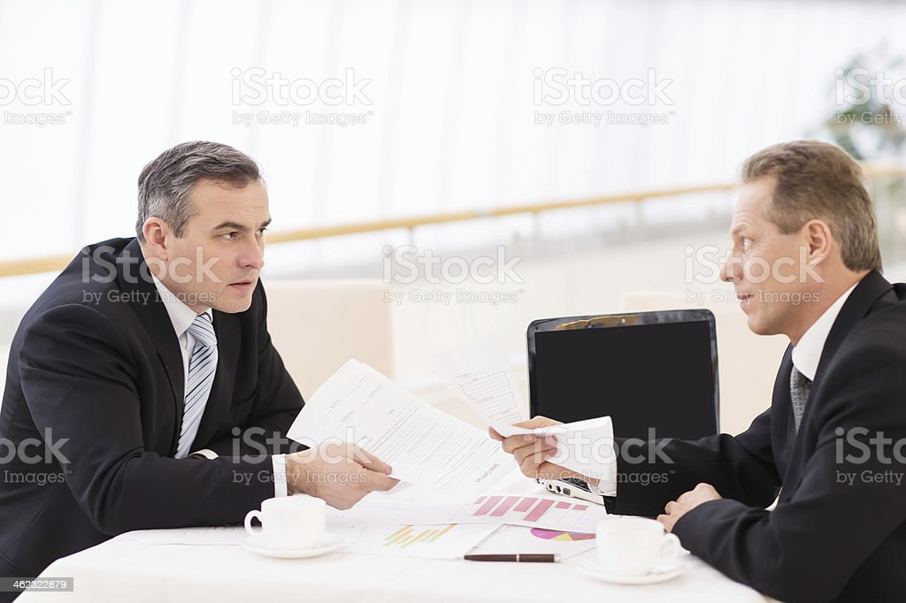 Business confrontation. royalty-free stock photo
