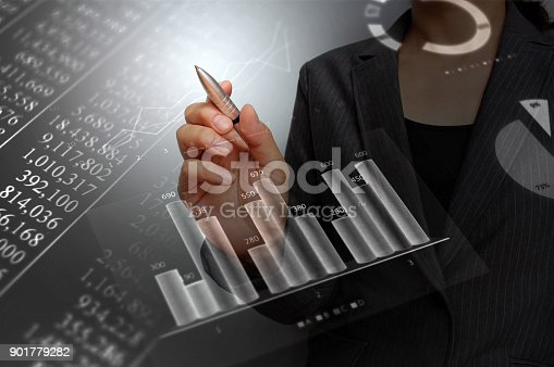 807104524 istock photo Business consept, Financial graphs 901779282