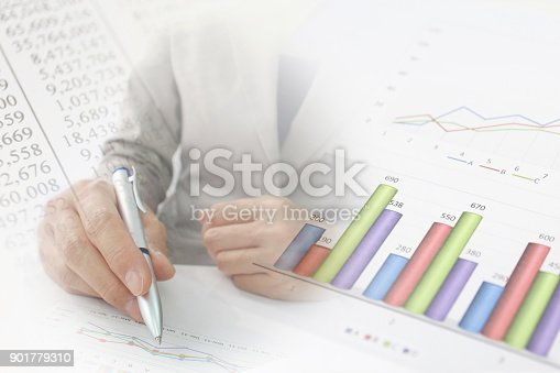 807104524 istock photo Business consept, Financial graphs 901779310
