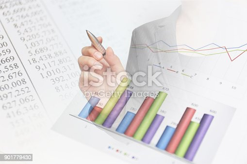 807104524 istock photo Business consept, Financial graphs 901779430