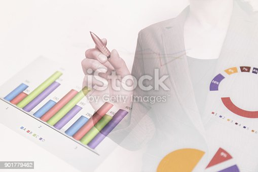 807104524 istock photo Business consept, Financial graphs 901779462