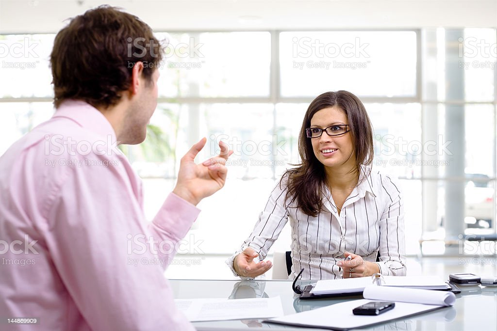 Business Consultation royalty-free stock photo