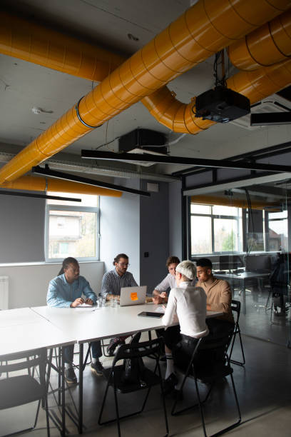 business consultations - georgijevic coworking stock pictures, royalty-free photos & images