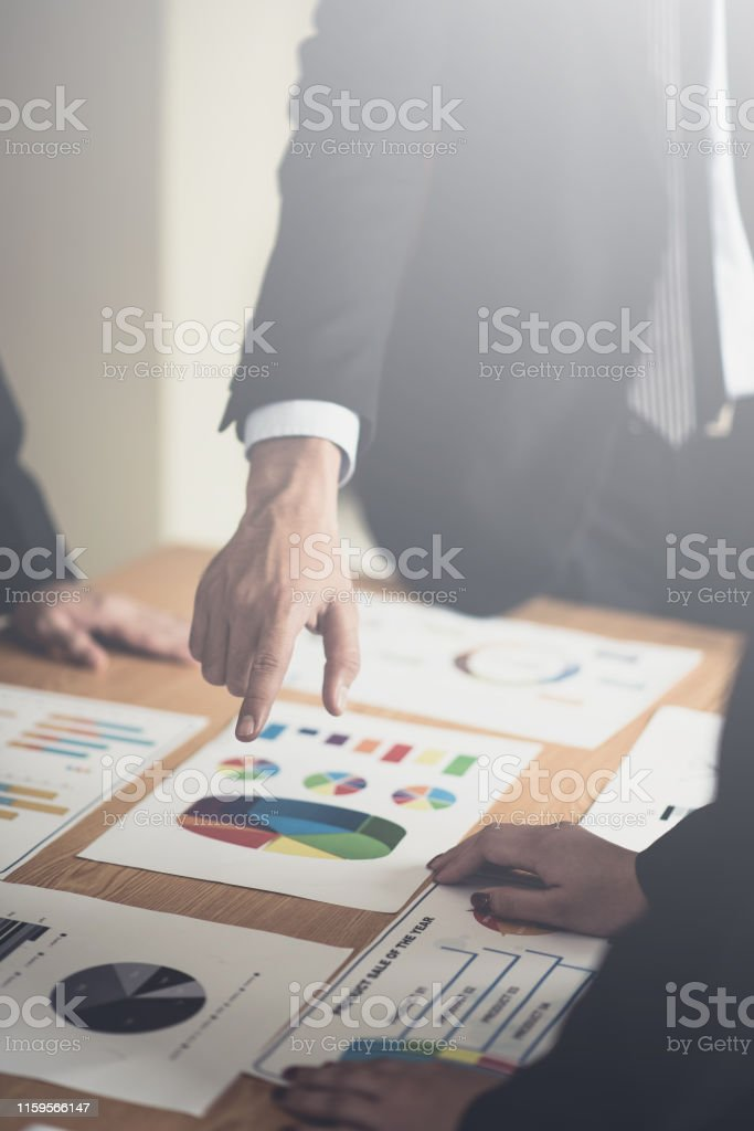 business consulting businessman meeting brainstorming report project...