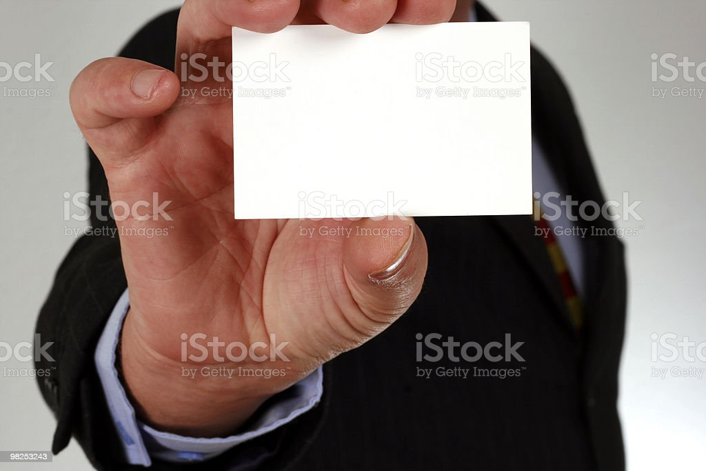 Business contact royalty-free stock photo
