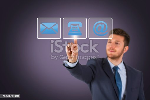 istock Business Contact Us on Screen 509921688