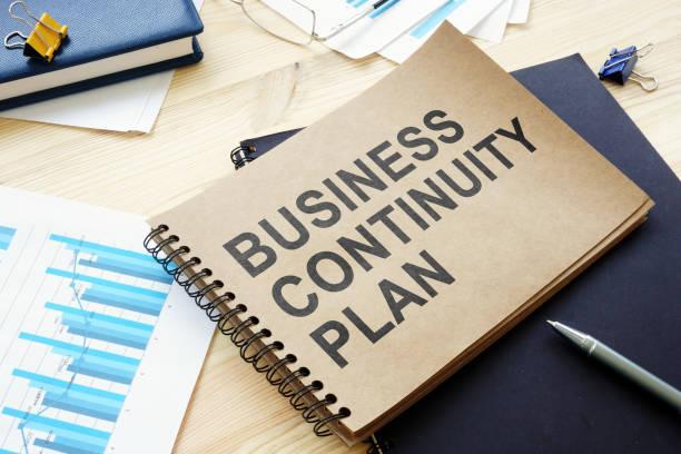 Der BCP Business Continuity-Plan liegt auf dem Tisch. – Foto
