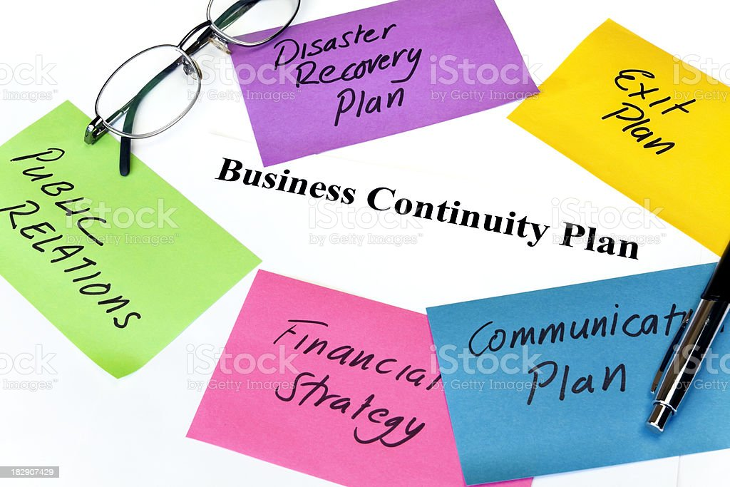 Business Continuity Plan royalty-free stock photo