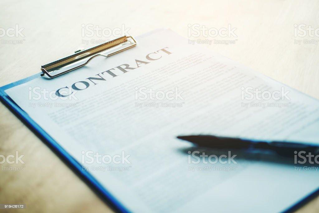 Business-Vertrag aus – Foto