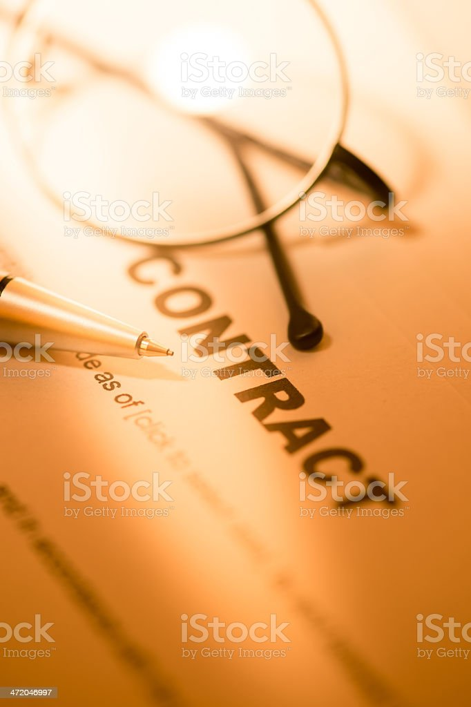 Business Contract stock photo