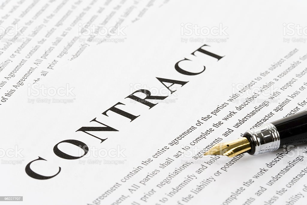 Business Contract royalty-free stock photo
