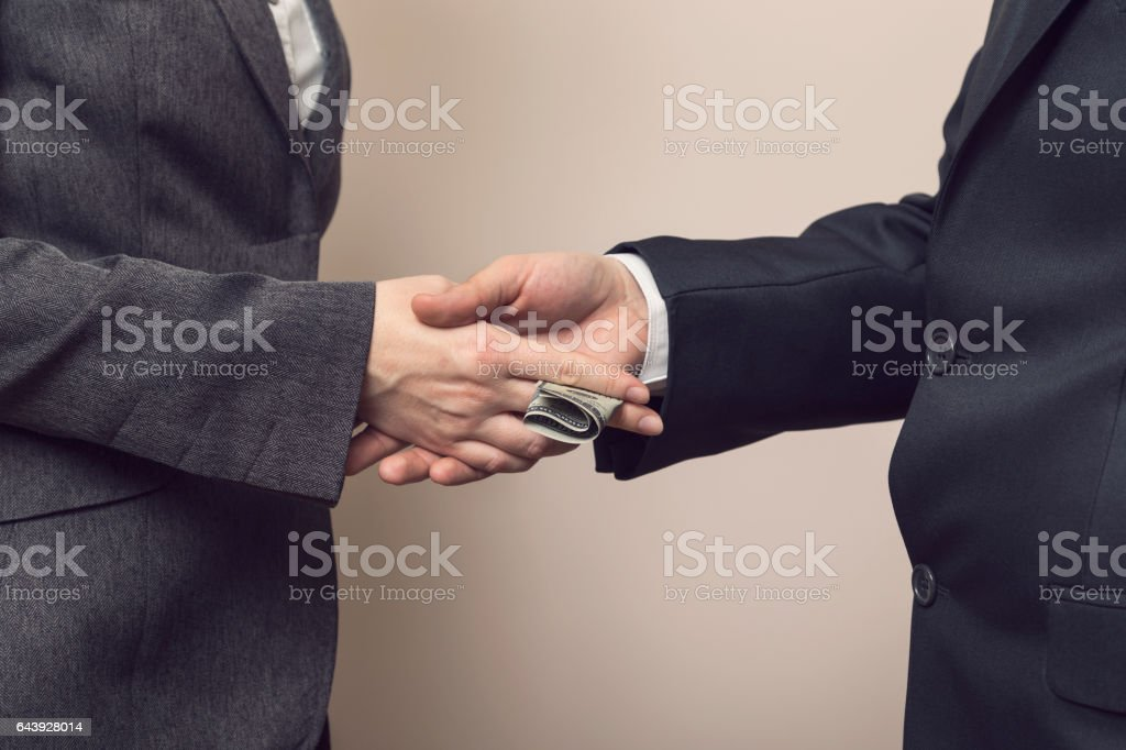 Business corruption stock photo