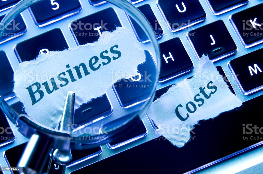 Business Costs Concept royalty-free stock photo