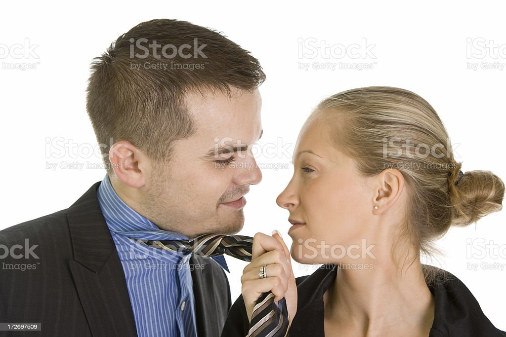 Business couple isolated on white royalty-free stock photo