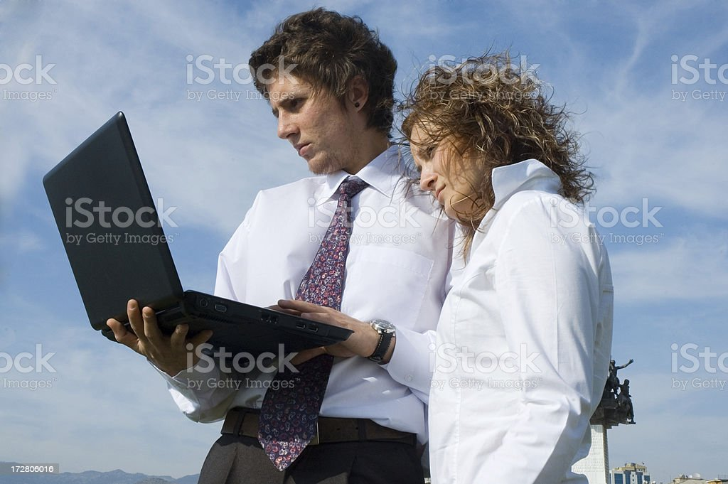 business couple royalty-free stock photo
