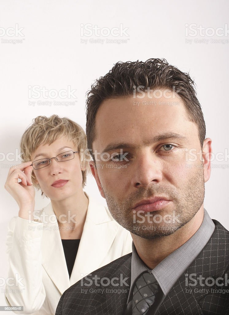 Business couple portrait - Royalty-free Adult Stock Photo