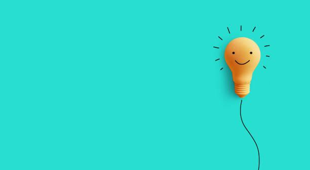 business kreativitet idé concept.with glödlampa - happy driver bildbanksfoton och bilder