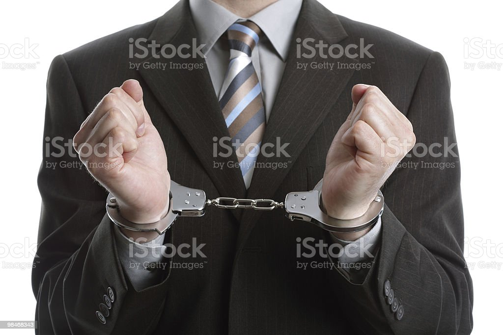 Business crime royalty-free stock photo