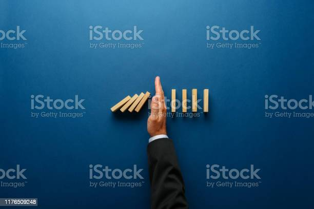 Business Crisis Management Conceptual Image Stock Photo - Download Image Now