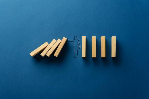 Business crisis management stock photo