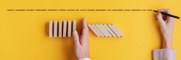 Business crisis solution and development concept stock photo