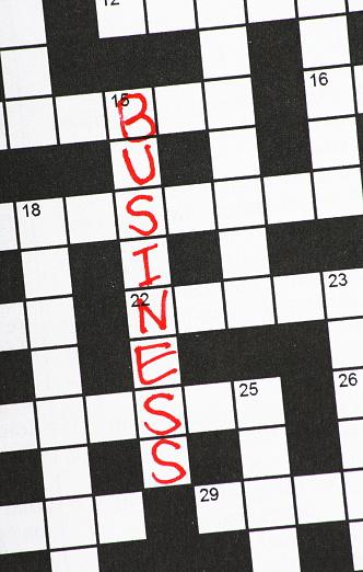 Business Crossword Clue Stock Photo Download Image Now Istock