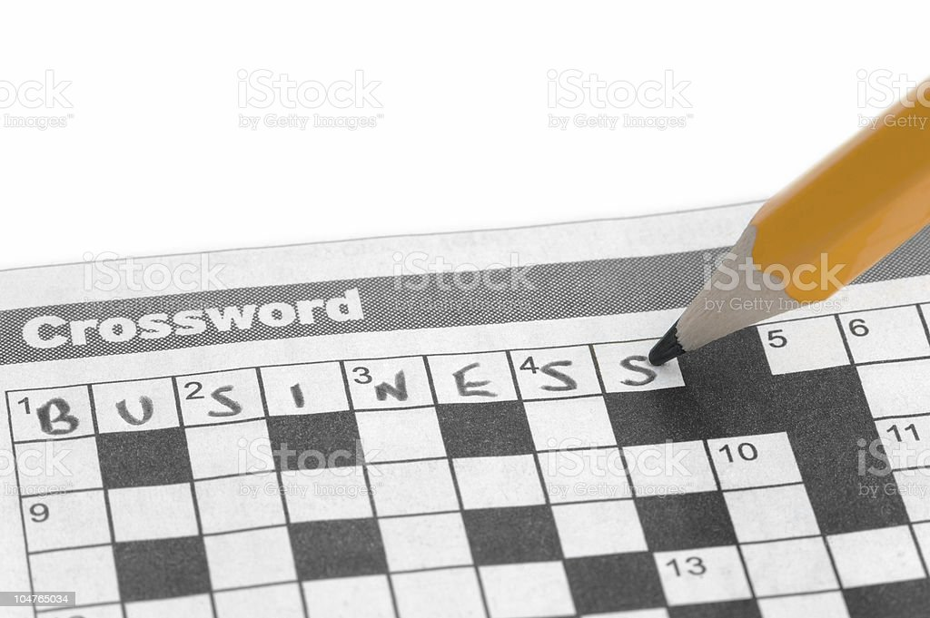 Business Crossword royalty-free stock photo