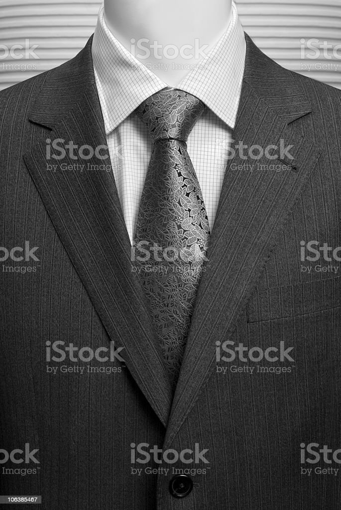 business dark grey suite with white shirt and tie royalty-free stock photo