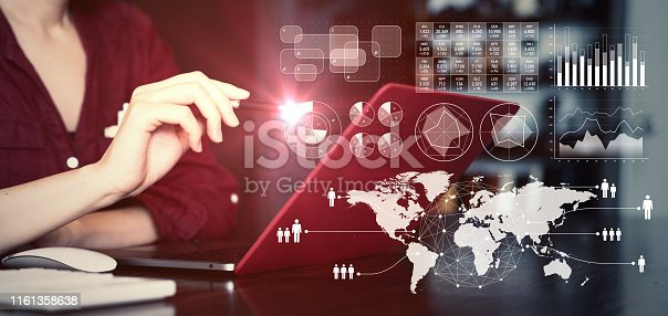 istock Business data analysis concept. global business. 1161358638