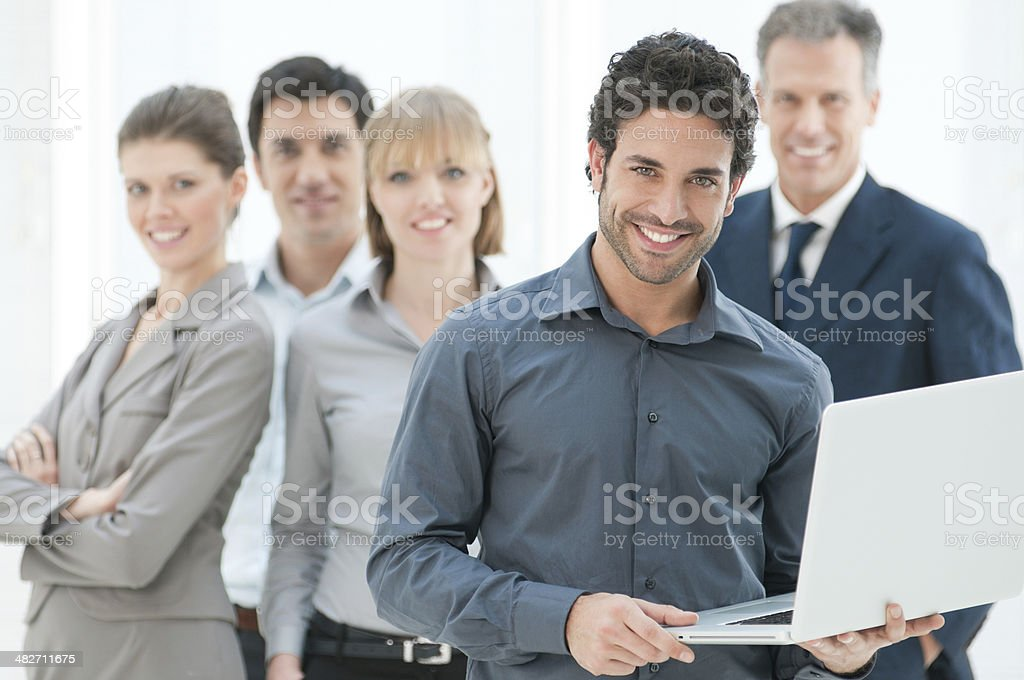 Business data and technology stock photo